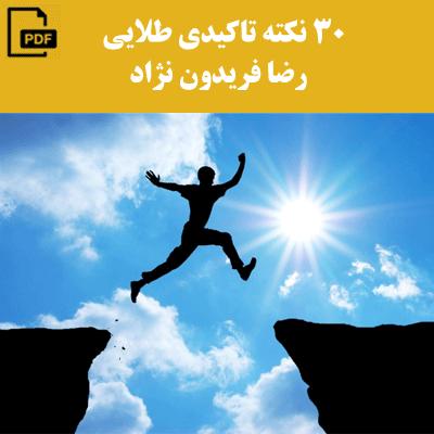 30 نکته طلایی - رضا فریدون نژاد