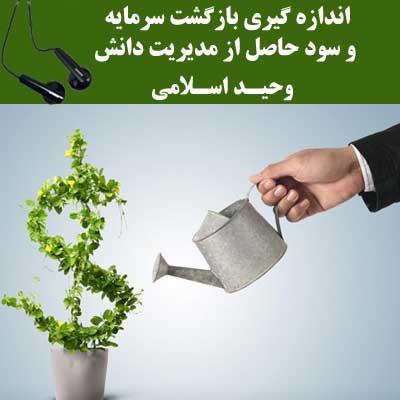 اندازه گیری بازگشت سرمایه و سود حاصل از مدیریت دانش - وحید اسلامی